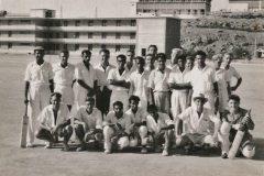 Aden 1959- 1960 - Cricket match between Aden GPO and 261 PURE